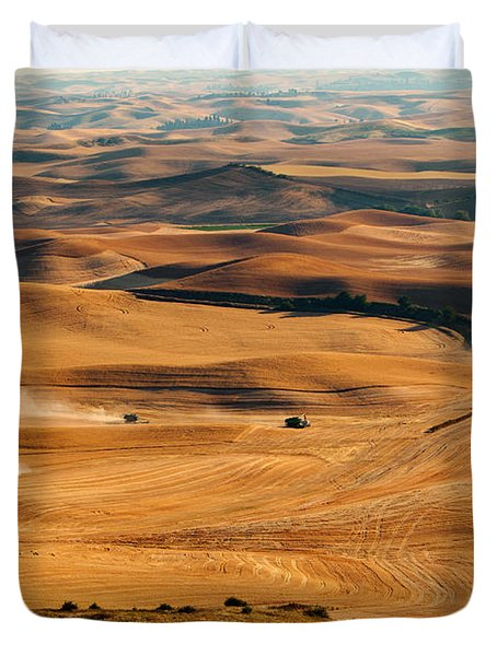 Harvest Overview Duvet Cover