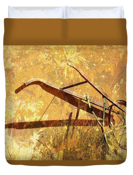 Harvest Plow Duvet Cover