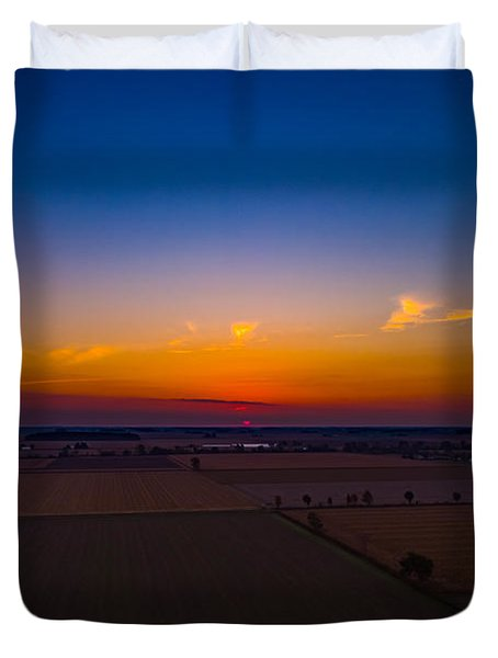 Harvest Sunrise Duvet Cover