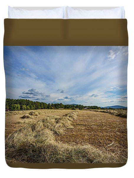Duvet Cover featuring the photograph Harvest by Susi Stroud