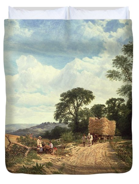 Harvest Time Duvet Cover by George Vicat Cole