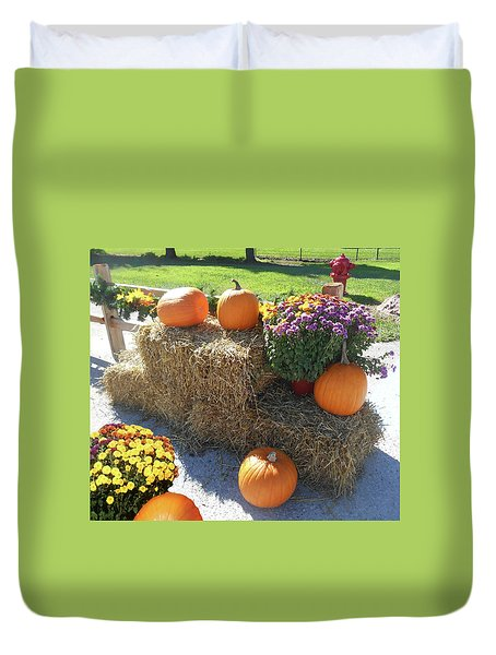 Duvet Cover featuring the photograph Harvest Time  by Irina Sztukowski