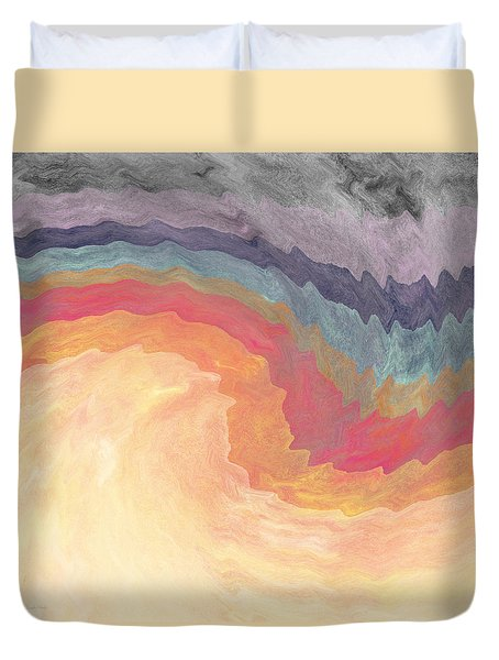 Duvet Cover featuring the painting Harvest Wind- Abstract Art By Linda Woods by Linda Woods
