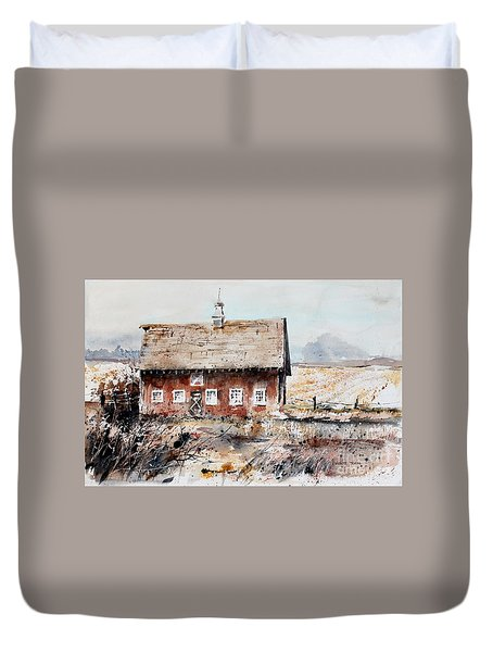 Harvested Fields Duvet Cover by Monte Toon