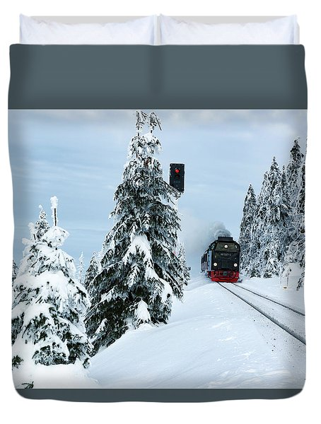 Harz Ballooning And Brocken Railway Duvet Cover by Andreas Levi