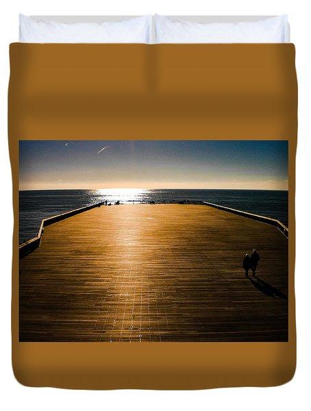 Hastings Pier, Hastings, Sussex, England Duvet Cover