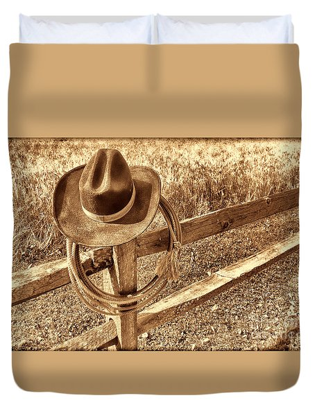 Hat And Lariat Duvet Cover