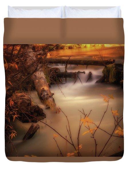 Hat Creek In Gold Duvet Cover
