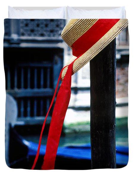 Hat On Pole Venice Duvet Cover