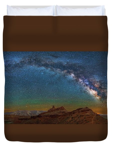 Hat Rock Milky Way Duvet Cover