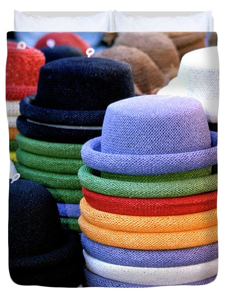 Hats, Aix En Provence Duvet Cover