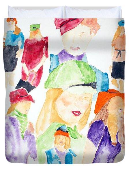 Hats Duvet Cover