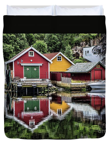 Haugesund Reflections Duvet Cover by Shirley Mangini