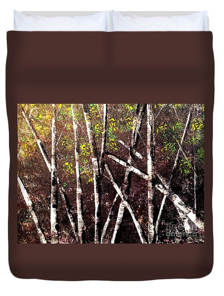 Haunted Birches Duvet Cover