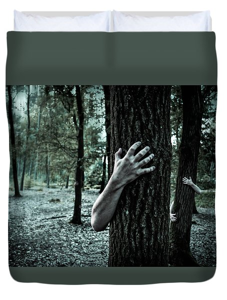 Haunted Forest  Duvet Cover