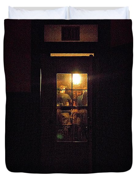 Haunted House 4 Duvet Cover by William Horden