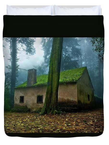 Haunted House Duvet Cover by Jorge Maia