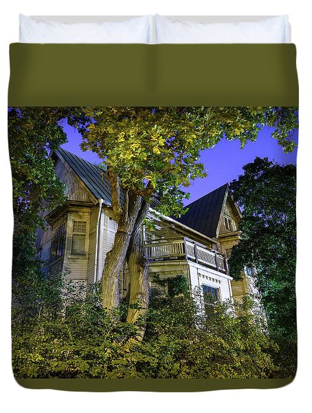 Haunted House Duvet Cover