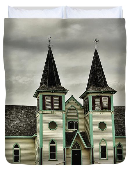 Haunted Kipling Church Duvet Cover