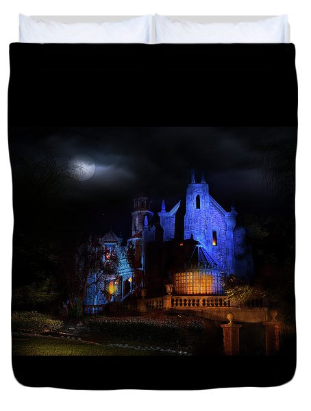 Haunted Mansion At Walt Disney World Duvet Cover