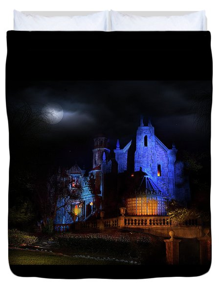 Haunted Mansion At Walt Disney World Duvet Cover by Mark Andrew Thomas