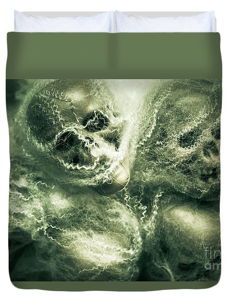 Haunted Undead Skeleton Heads Duvet Cover