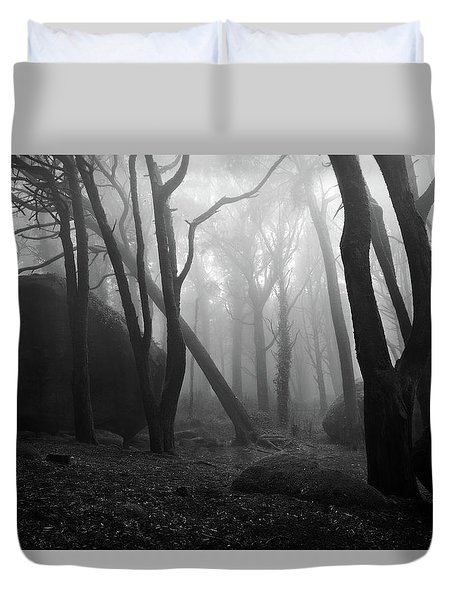 Haunted Woods Duvet Cover by Jorge Maia