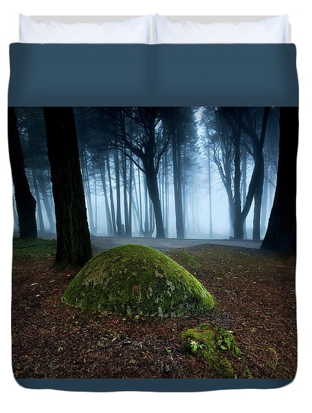 Duvet Cover featuring the photograph Haunting by Jorge Maia