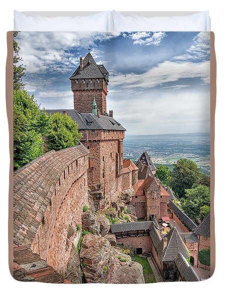 Duvet Cover featuring the photograph Haut-koenigsbourg by Alan Toepfer