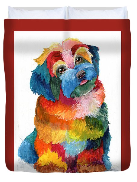 Hava Puppy Havanese Duvet Cover