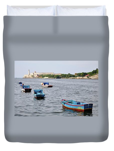 Havana Harbor Duvet Cover