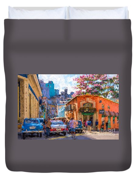 Havana In Bloom Duvet Cover