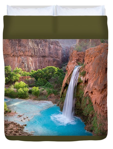 Havasu Falls, Arizona 2 Duvet Cover by Serge Skiba