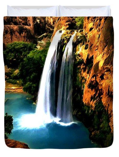 Havasu Waterfall Duvet Cover