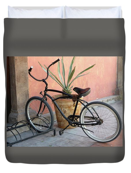 Duvet Cover featuring the photograph Have Wheels...will Travel by Anne Mott
