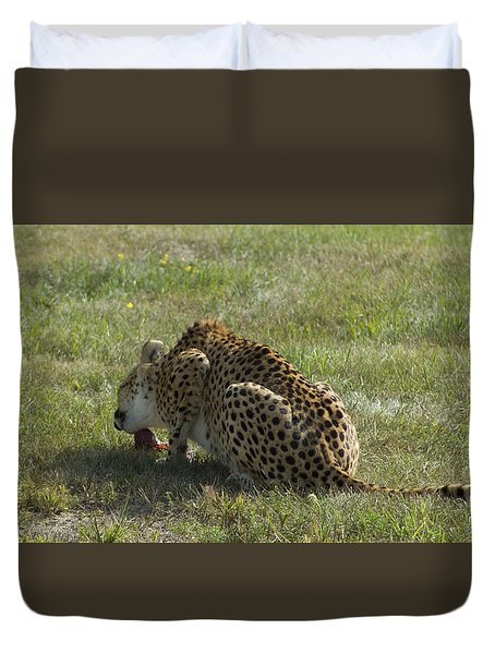 Having Lunch Duvet Cover