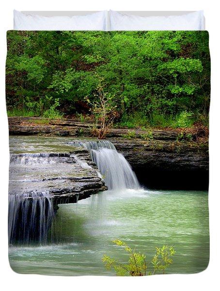 Haw Creek Falls Duvet Cover by Marty Koch
