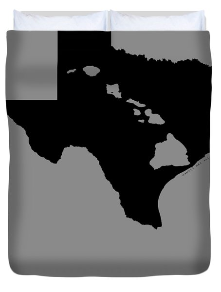 Hawai'i And Texas Roots By Hawaii Nei All Day Duvet Cover