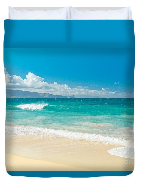 Hawaii Beach Treasures Duvet Cover