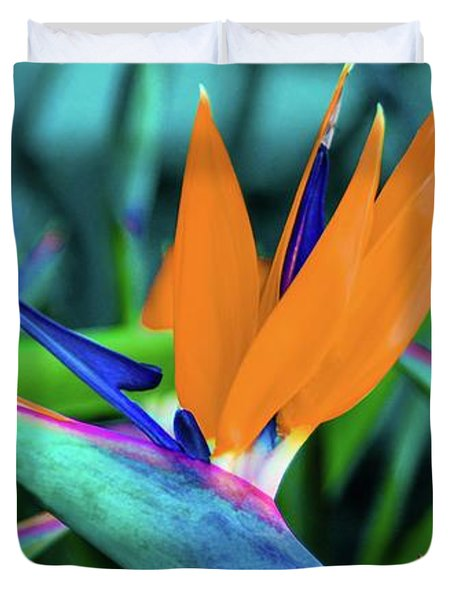 Duvet Cover featuring the photograph Hawaii Bird Of Paradise Flowers by D Davila