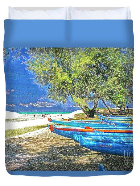 Hawaii Boats Duvet Cover