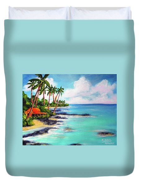 Hawaii North Shore Oahu #472 Duvet Cover by Donald k Hall
