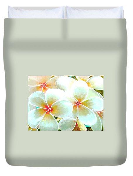 Hawaii Plumeria Frangipani Flowers #86 Duvet Cover by Donald k Hall