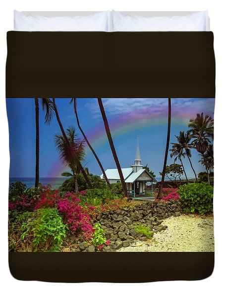 Hawaii Rainbow Duvet Cover