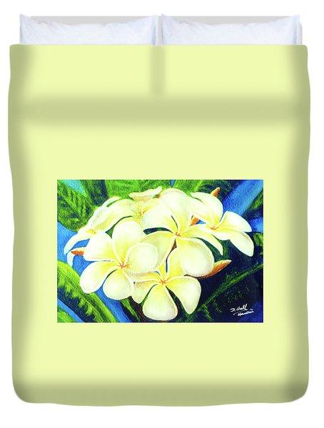 Hawaii Tropical Plumeria #158 Duvet Cover by Donald k Hall
