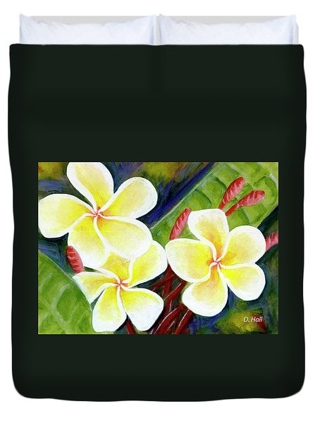 Hawaii Tropical Plumeria Flower #298, Duvet Cover by Donald k Hall