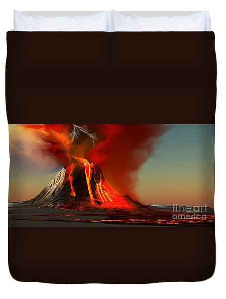 Hawaii Volcano Duvet Cover by Corey Ford