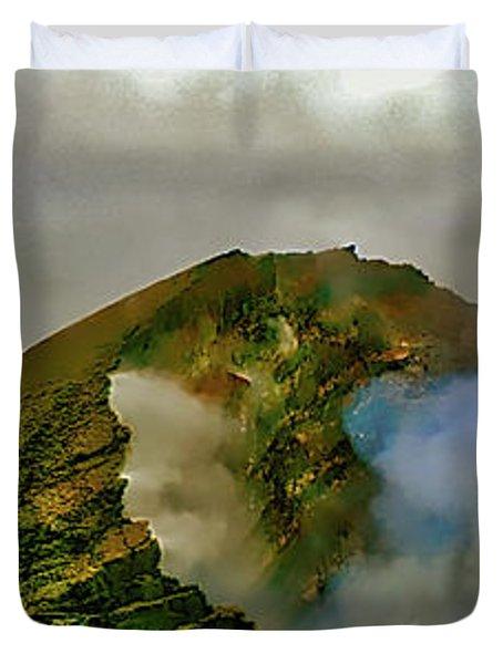 Hawaii Volcanoes National Park Aerial  Duvet Cover