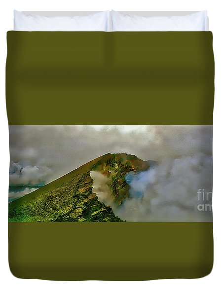 Hawaii Volcanoes National Park Aerial  Duvet Cover