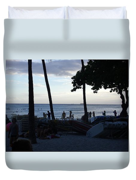 Hawaiian Afternoon Duvet Cover